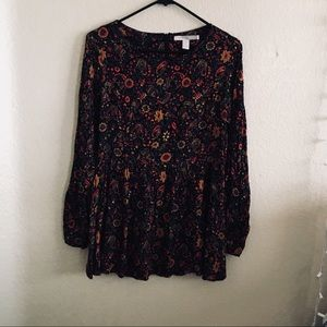 f21 floral autumn dress